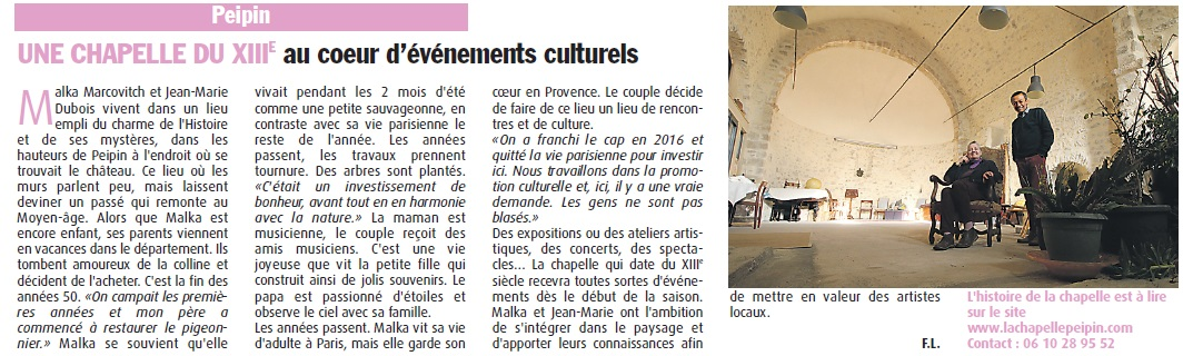 article Haute provence info