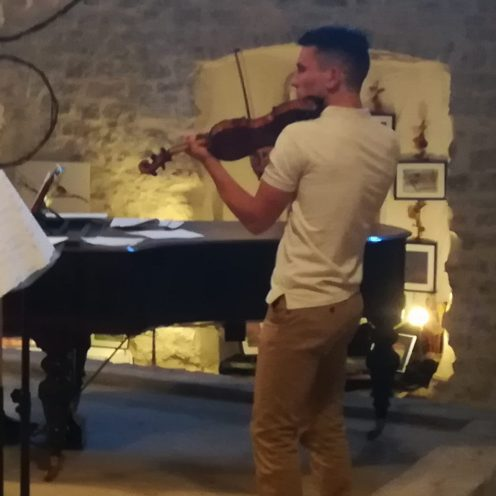 Adèle Timotéo flûte, Arnaud Amayenc violon et Antoine Rossfelder Piano